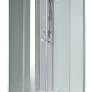 Neuer Nero kwartronde complete douchecabine helder glas 90x90cm